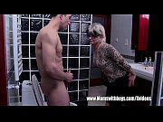 grey haired stepmom fucks her bathroom.
