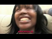Ebony interracial banged girl