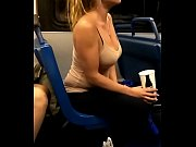 Big tits slut on the bus teasing