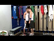 sexy gay jocks sucking dicks in the locker room