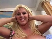gina the blonde slutty milf gets it hard.