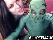 cosplay couple roleplay aliens on webcam - more.