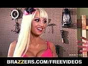 Big-tit blonde fuck doll Rikki Six hes perfect pink pussy spread and stretched