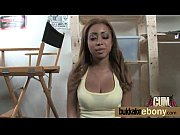 Different guys take turns fucking ebony and cum on her face 6