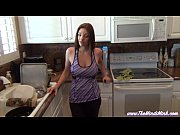Mindi Mink JOI and Masturbate With Step-Son In Kitchen