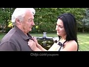 YouPorn - Dirty hot brunette fucking silly grandpa