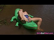 Girls Out West - Amateur cutie on a crocodile, www xxx gow Video Screenshot Preview