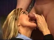 Facial on Cute Amateur Girl with Glasses