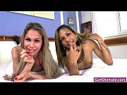 two trannies gaby and bianca anal drilling with.