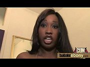 ebony babe sucks and gets fucked by white.