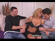 sharing hot milf with young cock