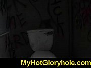 black chick learn gloryhole blowjob 8