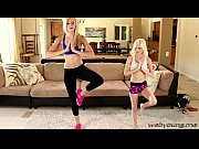 Yoga session turns into a lustful lesbian sex with Piper and Alexa