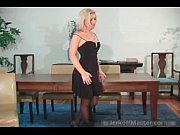 amamzing blonde hoe is stripping