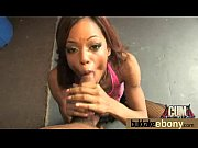 A porno movie with a sucker with ebony skin that is passionate of the cum in her face