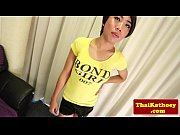 teen thai ladyboy teasingly solo plays