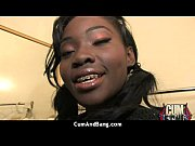 interracial group blowjob from a ebony.