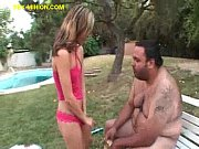 Blonde Babe Services Fat Guy