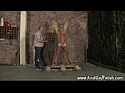 hung gays uncut blindfolded, gagged, tormented and flogged,.