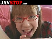 japanese girl with glasses blowjob pov.