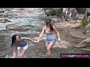 girls out west - amateur lesbians playing by.