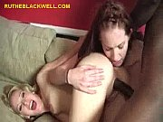 Picture Two White Chicks Share Black Stud