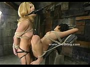 ladies tied in ropes very tight.