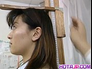 saki shiina has hairy cunt measured and sucks.