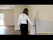 Hot property manager seduces her boss in an empty house