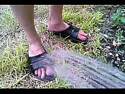 Wife cools off her hot feet