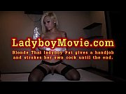 Ladyboy Pat Gives A Handjob And Cums