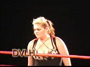 Isis 7 foot tall female wrestler beats up 3 men DVLH Wrestling