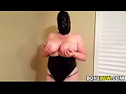 Huge tits BBW teasing with a mask