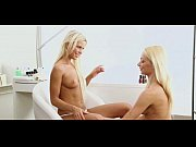 two amazing blondes play