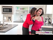 Mature hairy stepmoms threeway with hot teen