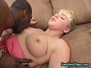 hot blonde loves black cock