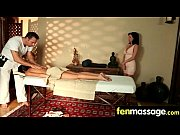 Fantasy massage babe gets...