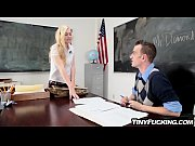 Schoolgirl with special skills fucks her teacher in classroom