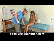 Blonde teen girl gets special medical check-up