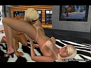 foxy 3d cartoon blonde gets licked.