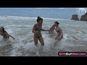 Girls Out West - Nasty lesbian orgy at th ...
