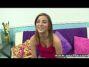 POVLife Sexy brunette Katie King POV blowjob sex