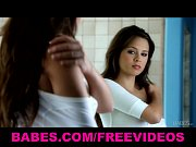 HOT &amp_ sexy brunette teen Nina James masturbates after her shower
