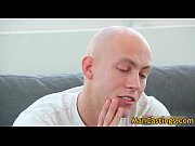 Bald guy Mathew gives hot blowjob gay boys