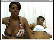 2 Ebony Girls Sucking Both Their Nipples