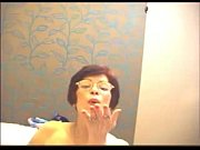 hot granny having fun on webcam.