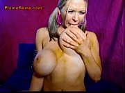 blonde babe with huge boobs sucks a tittie-fucks.