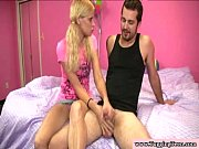real blonde teen wanking his hard.