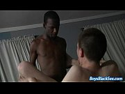 White gay boy ass fucks black thug from behind in the street 10