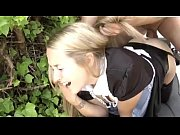 Blonde maid is doing painful a